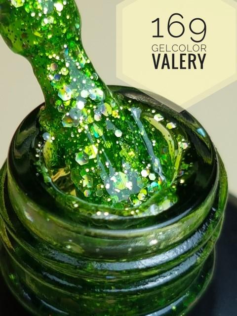 169 Blad Groene Glitters Gellak