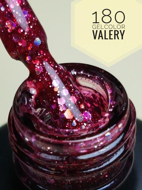 180 Bordeaux Roze Glitters Gellak