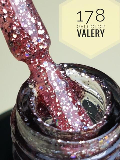 178 Donker Roze Glitter Gellak