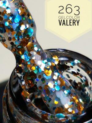 263 Doorzichtige Blauw Goude Glitters Gellak