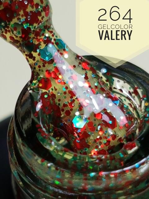 264 Doorzichtig Rood Blauwe Glitter Gellak