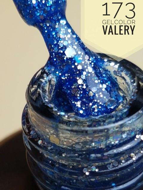 173 Zee Blauwe Glitters Gellak