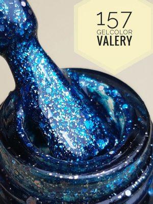157 Zee Blauwe Dekkende Glitters gellak