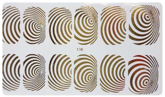 Goud Kleur Water Transfer Stickers 138